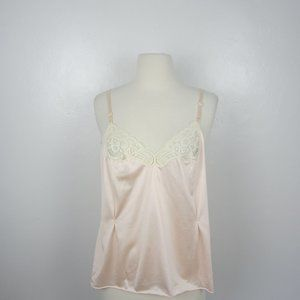 Vtg Vanity Fair Peach Satin Cami Top 36